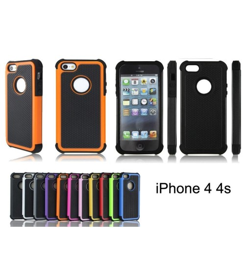 Iphone 4 4s two-piece heavy duty case red + SP