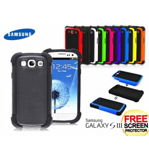 Galaxy s3 I9300 three-piece heavy duty case+Combo