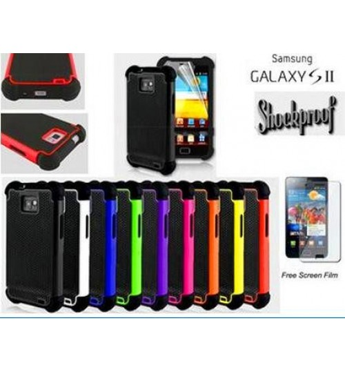 Galaxy s2 I9100 three-piece heavy duty case+Combo