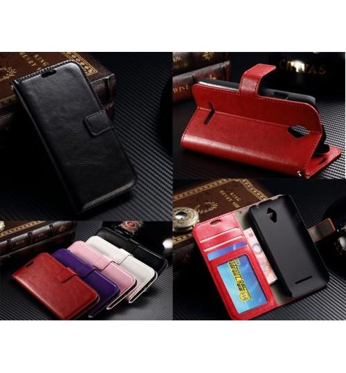 Vodafone Smart 4 fine leather ID wallet case+Pen