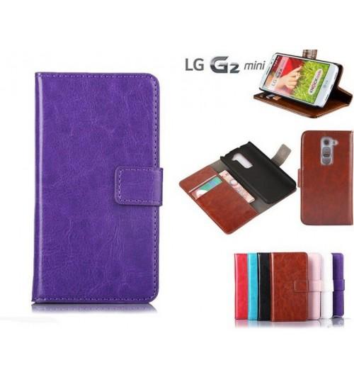 LG G2 mini vintage fine leather wallet case+Pen