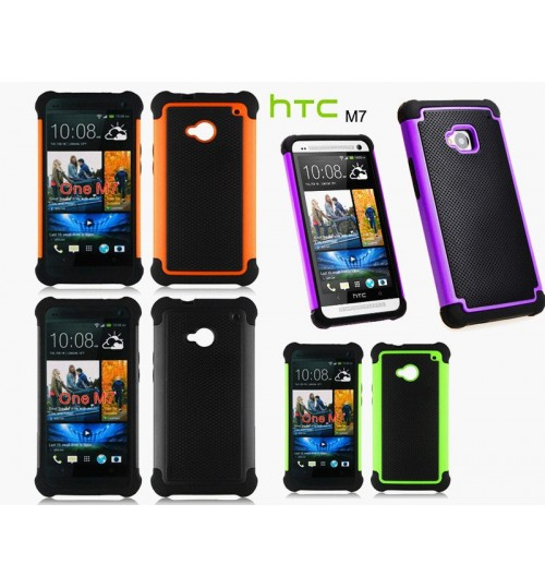 HTC ONE M7 three-piece heavy duty case+combo