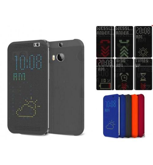 HTC Butterfly 2 case dot view flip case+Pen