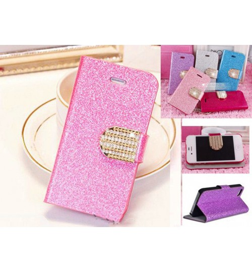 Iphone 4 4s luxury bling glitter leather case
