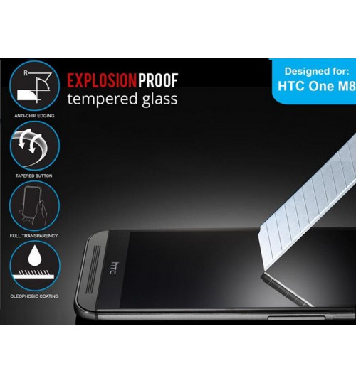 HTC One M8 tempered Glass Protector Film