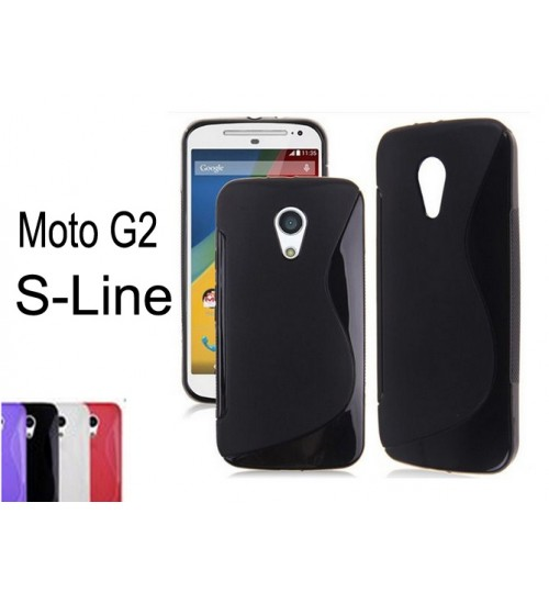 Moto G2 gel case TPU S line matte case black + SP