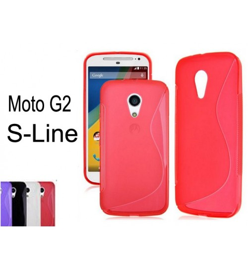 Moto G2 gel case TPU S line matte case red + SP
