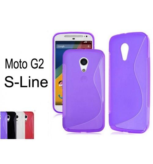 Moto G2 gel case TPU S line matte case  + SP