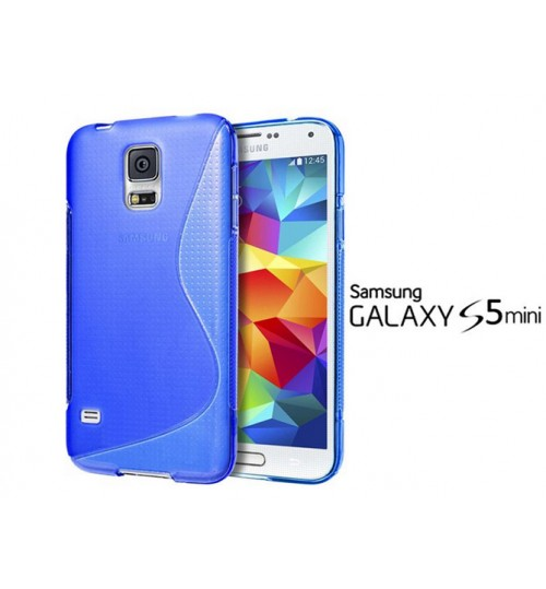 Galaxy S5 mini case TPU gel cover S line blue+pen