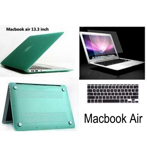 "MacBook AIR 13"" case 3IN1 Rubberized Hard Case"