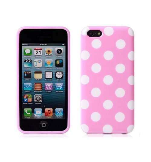 iPhone 4 Polka Dot Silicon Case+PEN+SP