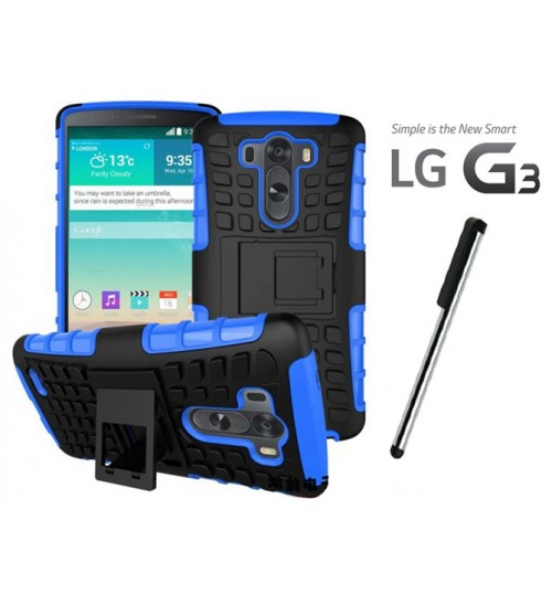 LG G3 Case Heavy Duty Hybrid Kickstand + Combo