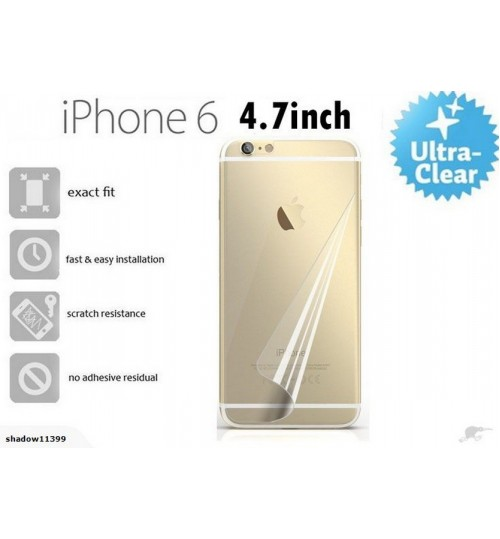 Iphone 6 4.7inch back screen protector clear