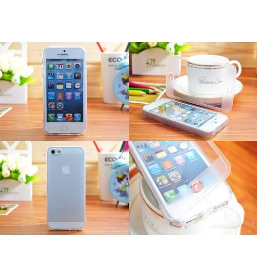 iPhone 4 4s Ultra slim TPU flip case+SP+PEN