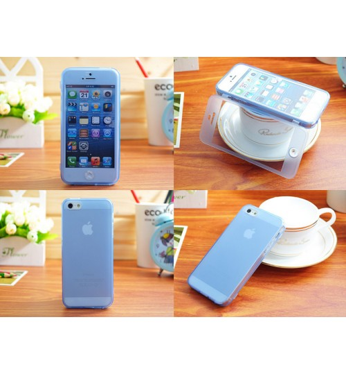 iPhone 5 5s Ultra slim TPU flip case+SP+PEN