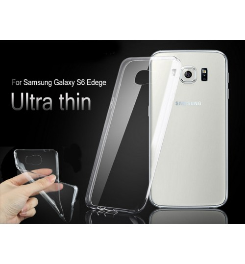 Galaxy s6 edge case clear gel ultra thin+SP