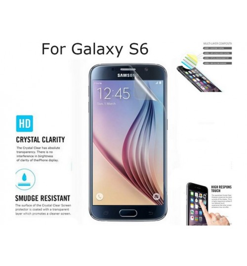 Samsung Galaxy S6 front screen protectors clear