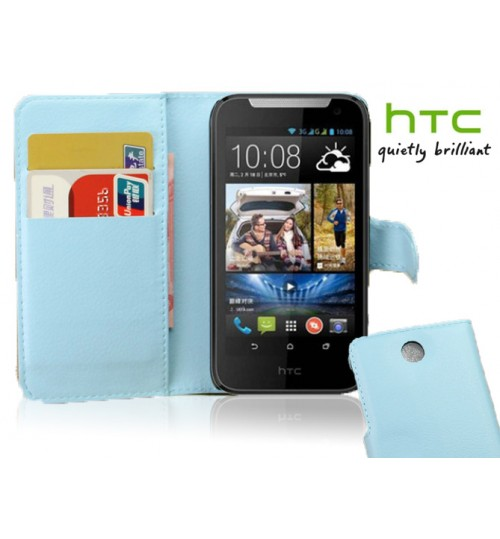 HTC Desire 310 Wallet leather cover+combo