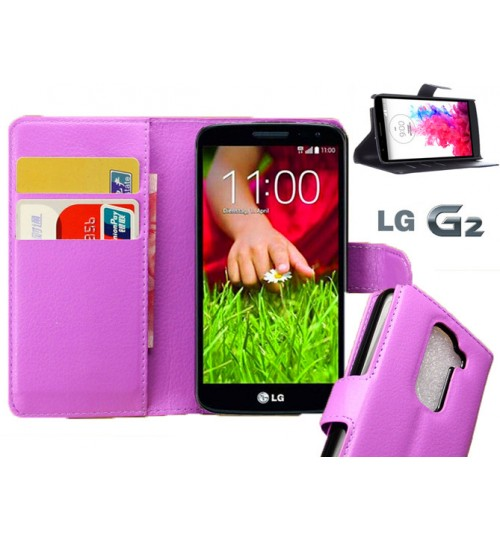 LG G2 Wallet leather cover case + combo