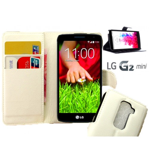 LG G2 Mini Wallet leather cover case + combo