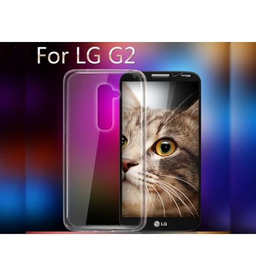 LG G2 Case Clear Gel Ultra Thin D802+Combo