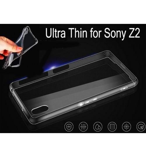 Sony  Z2 Case Clear Gel Ultra Thin +Combo