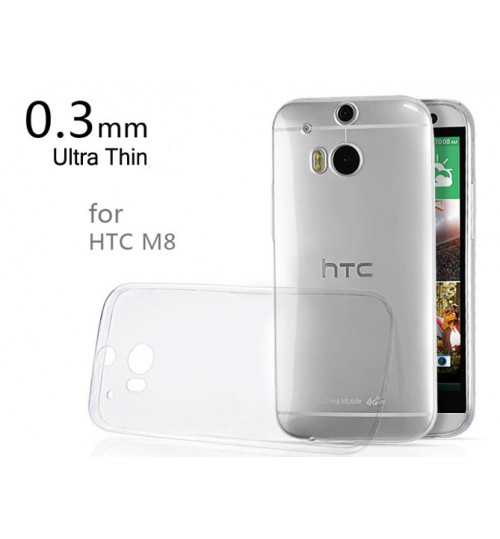 HTC one M8 Case Clear Gel Ultra Thin +Pen