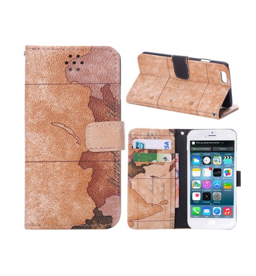 iphone 6 wallet leather map case w stand+pen