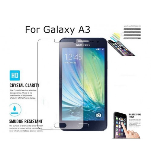 Samsung Galaxy A3 front screen protectors clear