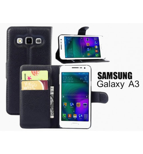 Samsung Galaxy A3 Wallet leather cover+combo