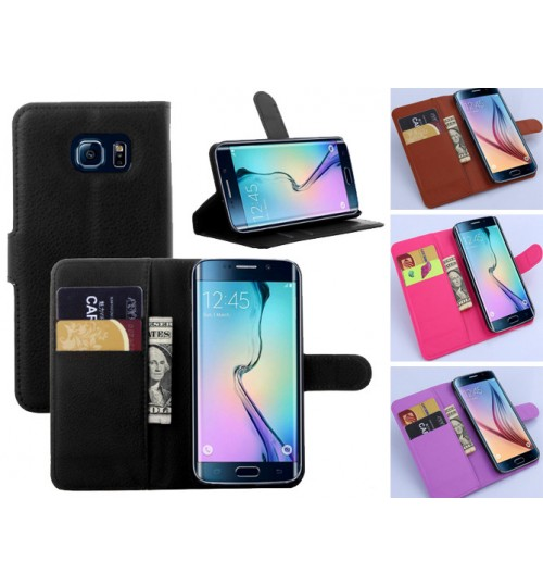 Samsung Galaxy s6 edge Wallet leather Case Cover