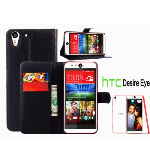 HTC Desire Eye  Wallet leather cover+combo