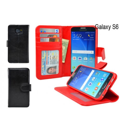 Samsung S6 case wallet leather case ID window