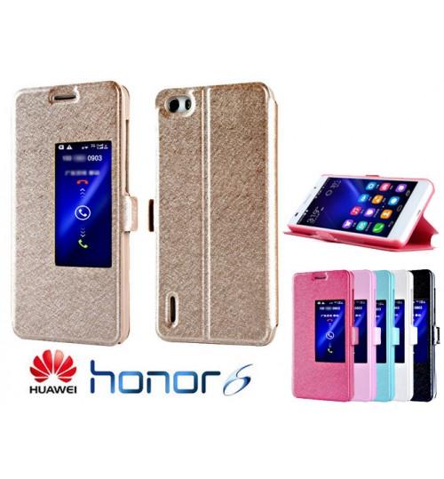 Huawei Honor 6 case luxury view window case