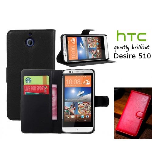 HTC Desire 510 case Wallet leather cover case