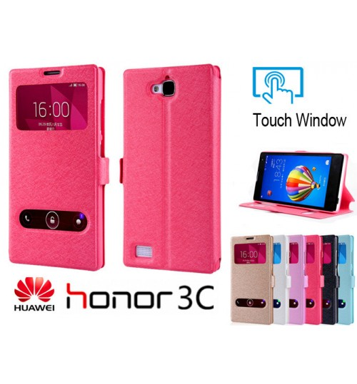 Huawei Honor 3C case luxury view window case