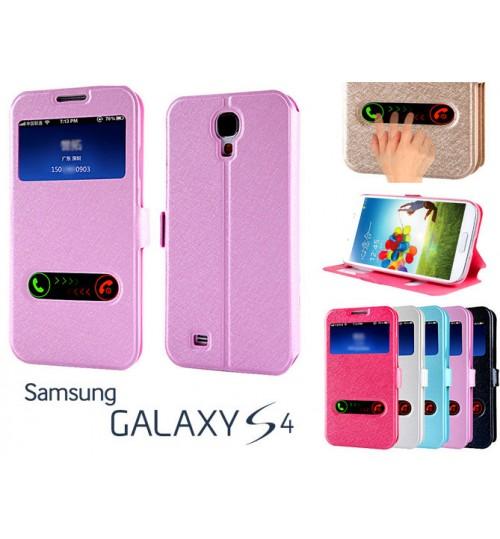 Samsung Galaxy S4 case luxury view window case