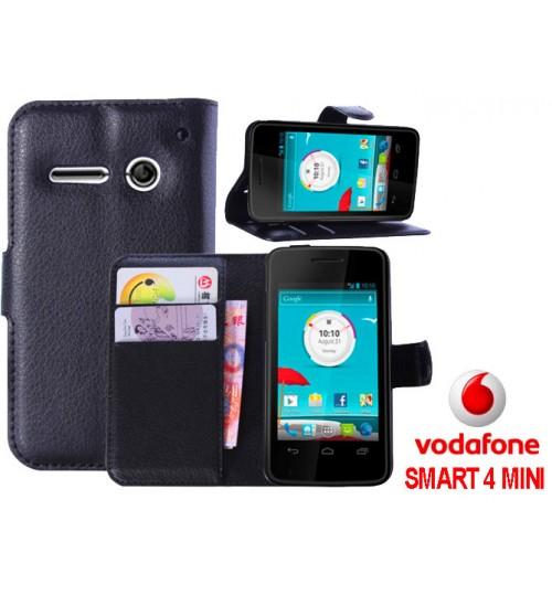 Vodafone Smart 4 Mini wallet leather case+Pen