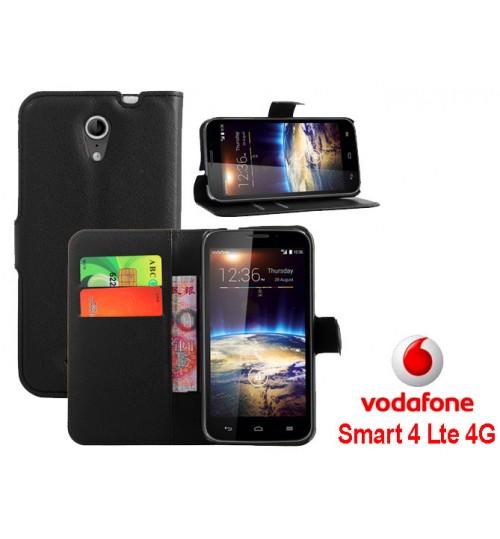Vodafone Smart 4 Power wallet leather case+Pen