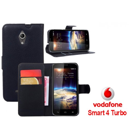 Vodafone Smart 4 Turbo wallet leather case+Pen