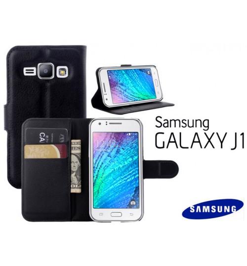 Samsung Galaxy J1 case wallet leather case+Pen