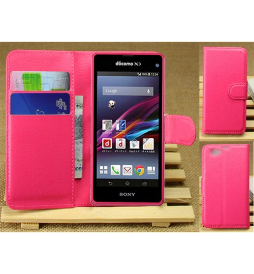Sony Xperia Z1 compact case wallet leather case