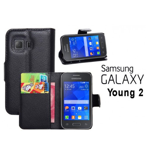 Samsung Galaxy Young 2 case wallet leather case