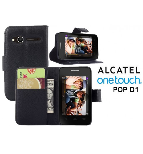 Alcatel OneTouch POP D1 case wallet leather case