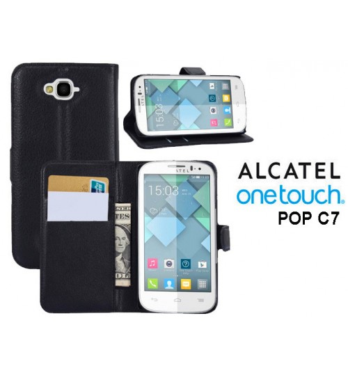 Alcatel OneTouch POP C7 case wallet leather case