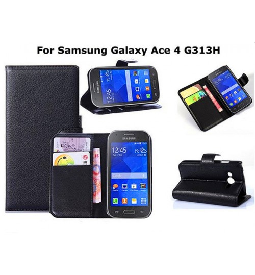 Samsung Galaxy Ace 4 case wallet leather case