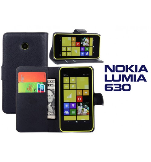 Nokia Lumia 630 635 case wallet leather case+Pen