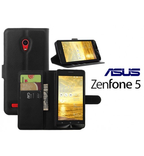 Asus Zenfone 5 case wallet leather case+Pen