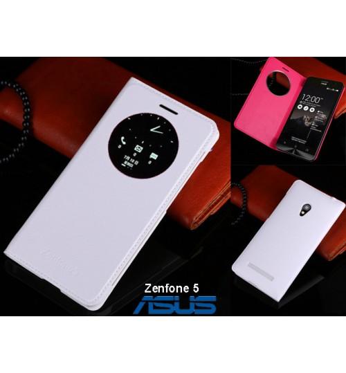 Asus Zenfone 5 case Leather Flip window case+Pen