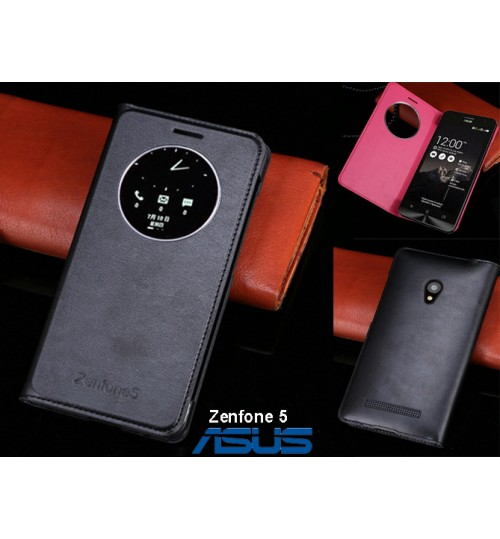 Asus Zenfone 5 case Leather Flip window case+Pen